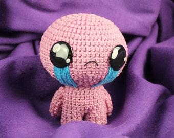 Isaac Plush, The Binding of Isaac, Amigurumi Isaac, Crochet Isaac, Geek Gift, Gamer Gift, Isaac Toy, Binding of Isaac Art,  Isaac Afterbirth