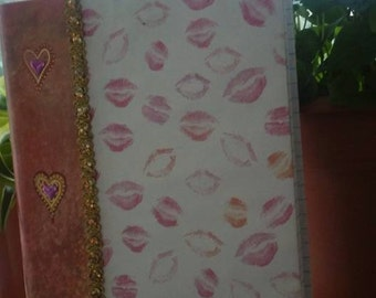 Journal/Blank/Lips/Kisses/Lipstick/Pink/Hearts/Love