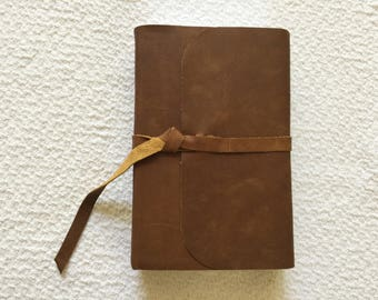 ESV Study Bible  Personal Size custom recovered covered cowhide leather with strap