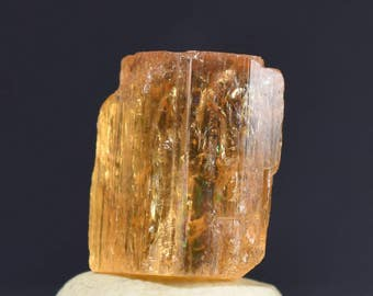 Natural Golden Orange IMPERIAL Topaz Terminated Crystal - Ouro Preto, Minas Gerais, Brazil