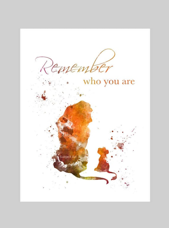 art print the lion king quote remember who you are