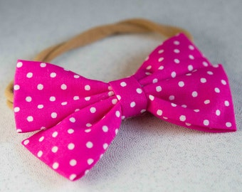 Pink Polka Dot Spring Bow & Bow tie
