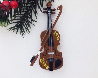 Violin Personalized Christmas Ornament - Violin Ornament - Music Ornament - Personalized Ornament