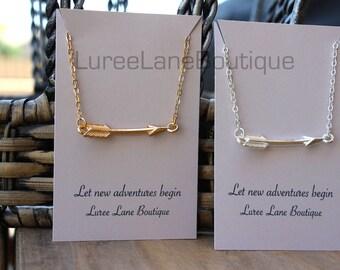 Arrow necklace/Dainty arrow necklace/Graduation necklace/Graduation gift/Mother's Day necklace/Bridesmaid necklace/Birthday necklace