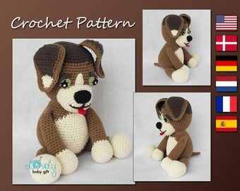 Amigurumi Pattern Crochet, Puppy Crochet Pattern, Amigurumi Dog, Animal Pattern Crochet, CP-138