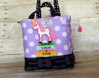 Unicorn Tote Bag/ Kids Tote Bag/ Children Bag/ Unicorn Lunch Bag/ Unicorn Purse/ Books Children Bag/ School Lunch Bag/ Girls Purse