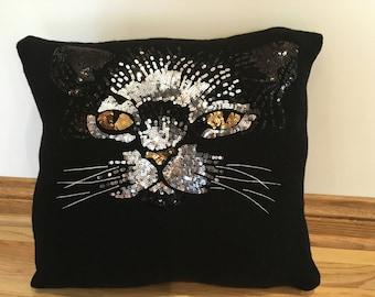 Fancy cat pillow