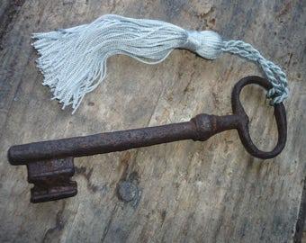 Large French iron key.