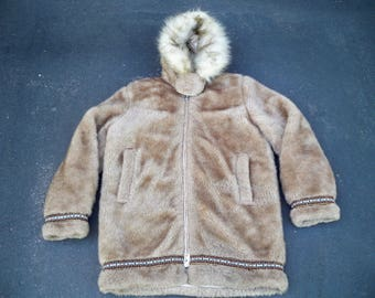 Vintage Hansa-Branta Stearns Goose Down Eskimo Winter Snow Coat Jacket Men's Size Medium