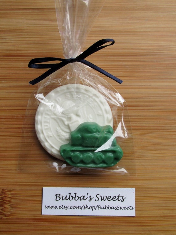 ARMY Chocolate Favor Bags 12 ARMY INSIGNIA Army Wedding Military Homecoming By Bubbas Sweets