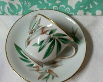 Noritake 5565 Bamboo Footed Demitasse Cup and Saucer