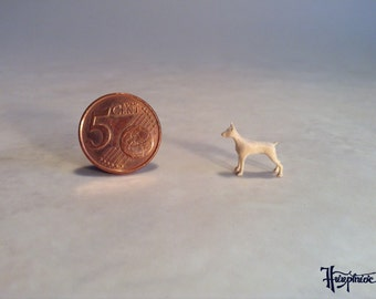 Wooden miniature Doberman-Pinscher (Natural wood)