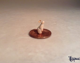 Miniature rabbit made of wood