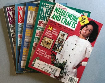 Lot of 5 Vintage McCall's Needlework & Crafts Magazines, 1980-1999