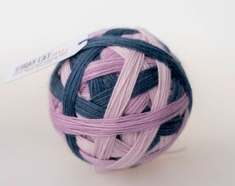 GRACE - vibrant hand dyed self striping sock yarn