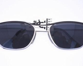 Hi Tek Alexander round metal Steampunk aviator 80's men's sunglasses