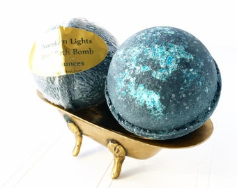Northern Lights Mini Bath Bomb, Mini Black Bath Bomb, Small Black Bathbomb, Bath Gift Idea, Manly Spa Gift, Gifts For Her, Man Bath Gift