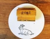 Vintage Goat Stamp / Wooden Goat Stamp / The Classroom Printer / Old Wood Stamp / Vintage Wood Stamp / Farmhouse Decor