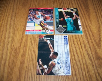 3 Alonzo Mourning (Charlotte Hornets) Insert Cards