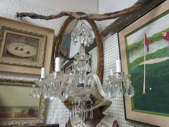 Glass chandelier lamp