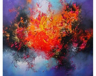 Large abstract painting by Alex Senchenko. Contemporary ART. Modern, original, wall art.  100% Hand-Made . Ready to hang .