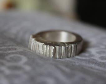 AW - Jagged 100% Silver Metal Ring