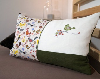 Pillow set bird cross stitch