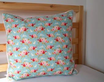 Rabbit cuddle cushion turquoise