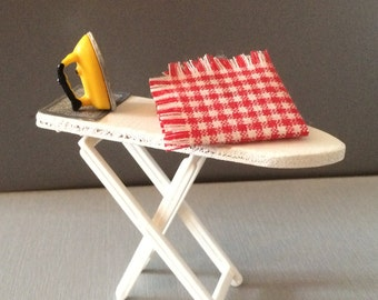 Lundby Dolls House Ironing Board And Iron 1970's