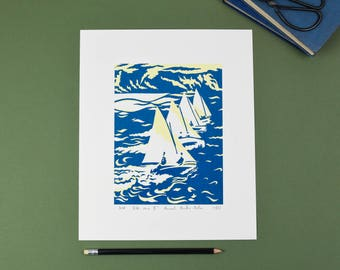 Ette Sailing Race (II) Screenprint