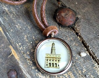 Nauvoo Temple Leather Neckband