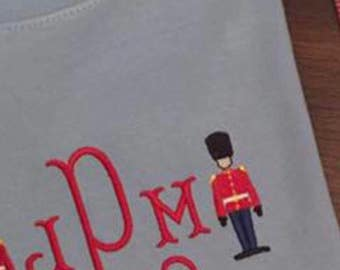 """2,2"""" and 1.6"""" Mini Queen's Guard Mini Embroidery Design - Two Sizes - 2.2 and 1.6"""