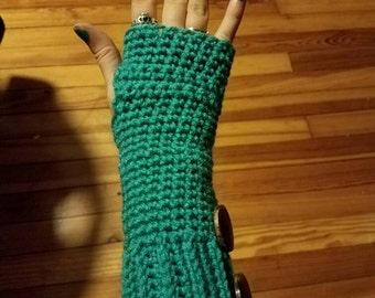 Fingerless hand warmer gloves