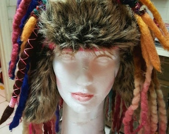 Wool Dreadlocks Cap Wool Dreads Dreadlock Wig Dreadlock Beanie Hippie Dreads Cosplay Dreads