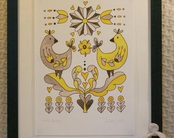 Yellow Folk Birds