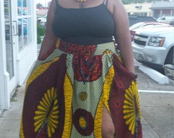 Custom Sized Ankara Skirt