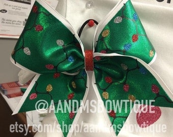 Christmas Lights Cheer Bow