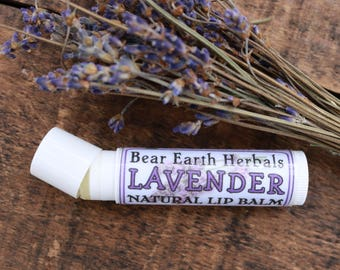 Organic Lavender Lip Balm, Lavender Essential Oil, Raw Beeswax, All Natural Lip Balm made with Michigan Lavender, Wedding Favors, Floral