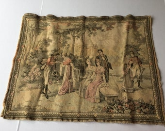 Tapestry with a French pastoral country scene
