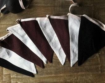 Linen bunting linen garland