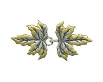 JH4043  - Leaves Cloak Clasp  - Metal
