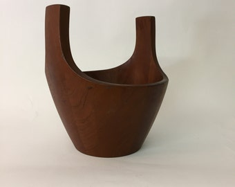 Early Dansk Staved Teak Viking Ship Bowl Jens Quistgaard