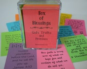 Box of Blessings 200 Scripture Cards Encouragement Bible Verse Cards Memory Verses Graduation Gift Christmas Inspirational