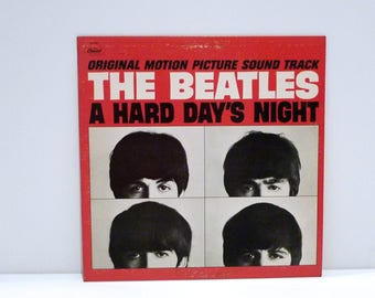 Beatles Vinyl Record A Hard Day's Night Original Motion Picture Soundtrack Band John Lennon Paul McCartney George Harrison Ringo Vintage '79