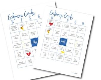 Gilmore Girls Bingo Cards Game