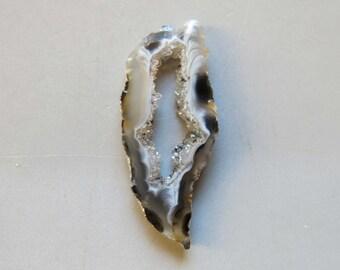 1pcs Natural Druzy Agate Geode Slices C4696