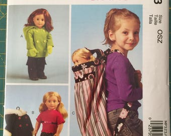 McCall MP323, McCall Craft pattern, doll clothes and backpack.