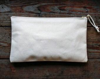 Large heavy duty canvas zipper pouch, pencil case, tool bag - Volcano Goods