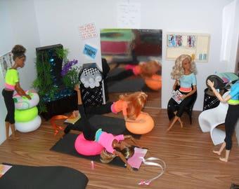 Yoga Workout Sets for Barbie or Similar size dolls.