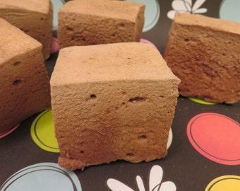 Mocha Marshmallows - 1 dozen fair trade Gourmet homemade marshmallows